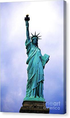 Statue Of Liberty Canvas Print by Sami Sarkis