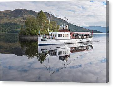 Steamship Sir Walter Scott On Loch Katrine Canvas Print