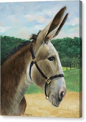 Trail Ride Canvas Print - 2 Steps by Don Langeneckert