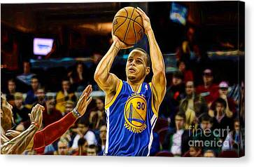 Steph Curry Collection Canvas Print