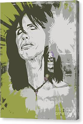 Steven Tyler  Canvas Print by Jeepee Aero
