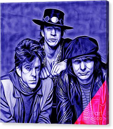 Stevie Ray Vaughan And Double Trouble Collection Canvas Print by Marvin Blaine
