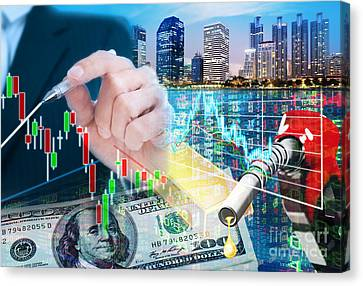 Business Plan Canvas Print - Stock Market Concept by Setsiri Silapasuwanchai