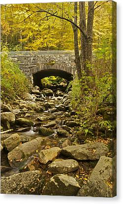 Smokey Mountains Canvas Print - Stone Bridge 6063 by Michael Peychich