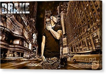 Street Phenomenon Drake Canvas Print by The DigArtisT