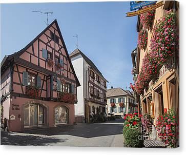 Streets Of Eguisheim Canvas Print
