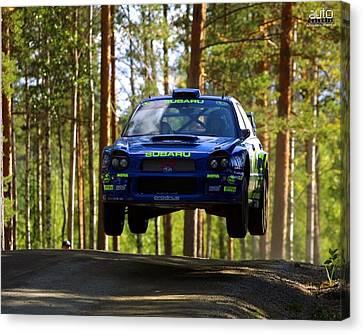 Subaru Impreza Canvas Print - Subaru Impreza Wrc                    by F S