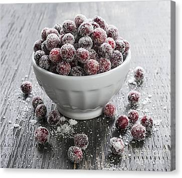Sugared Cranberries Canvas Print by Elena Elisseeva