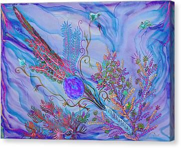 Sukkot-the Lulav Canvas Print by Sandrine Kespi