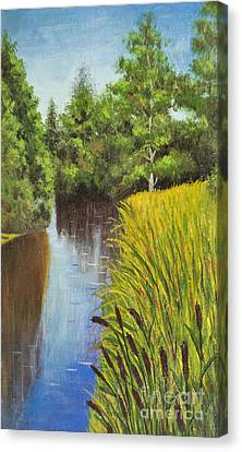 Summer Landscape, Painting Canvas Print by Irina Afonskaya