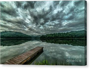 Summer Morning On The Lake Canvas Print