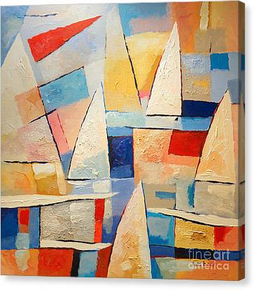 Abstract Seascape Canvas Print - Summertime by Lutz Baar