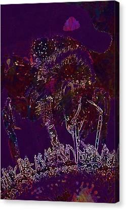 Canvas Print featuring the digital art Sun Flower Hummel Insect Summer  by PixBreak Art