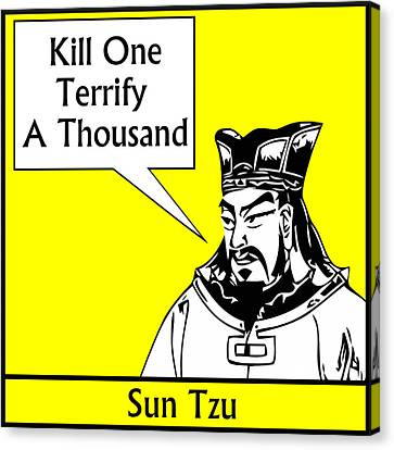 Sun Tzu Canvas Print by War Is Hell Store