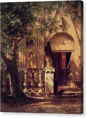 Sunlight And Shadow Canvas Print by Albert Bierstadt
