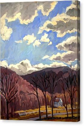 Sunny Autumn Berkshires Canvas Print by Thor Wickstrom