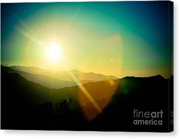 Sunrise In Himalayas Artmif Photo Raimond Klavins Canvas Print
