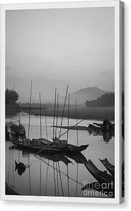 Contours Canvas Print - sunset at Mae Khong river by Setsiri Silapasuwanchai