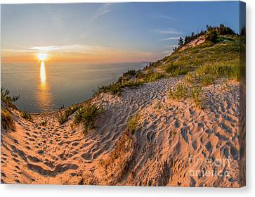Sunset At Old Baldy Canvas Print by Twenty Two North Photography