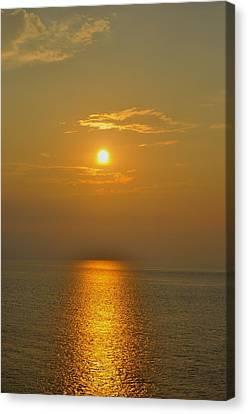 Sunset At Rameshwaram  Canvas Print