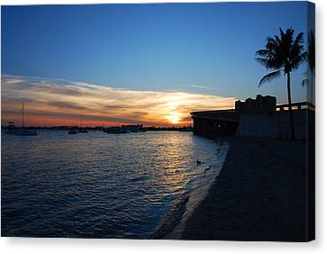 Canvas Print featuring the photograph 2- Sunset In Paradise by Joseph Keane