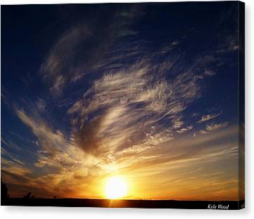 Sunset Canvas Print by Kyle Wood