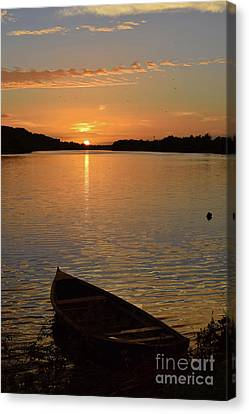 Sunset On The River Suir Canvas Print