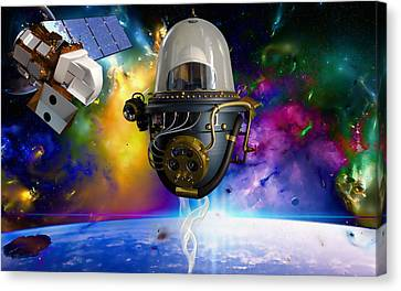 Outer Space Canvas Print - Take Off by Marvin Blaine