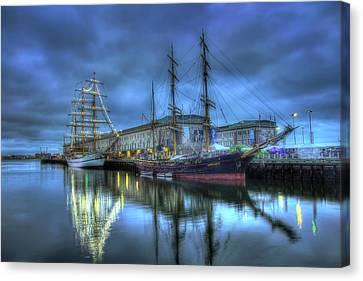 Tall Ships On Boston Harbor Canvas Print