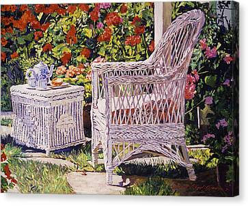 Woven Canvas Print - Tea Time by David Lloyd Glover