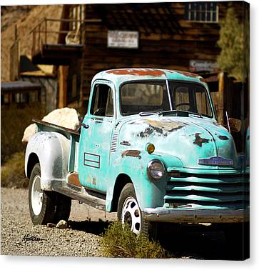 Techatticup Mine Ghost Town Nv Canvas Print by Marti Green