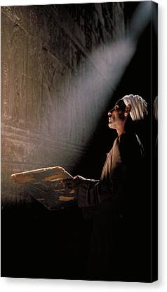 Temple Guide In Egypt Canvas Print by Carl Purcell
