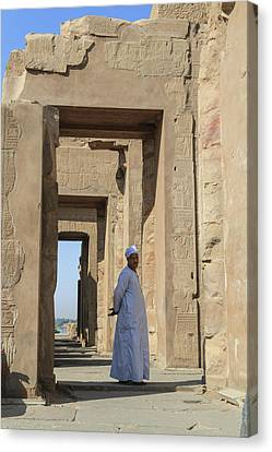 Canvas Print featuring the photograph Temple Of Kom Ombo by Silvia Bruno