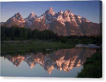 Teton Reflections Canvas Print by Andrew Soundarajan