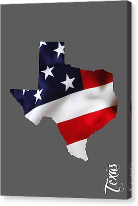Worlds Canvas Print - Texas State Map Collection by Marvin Blaine