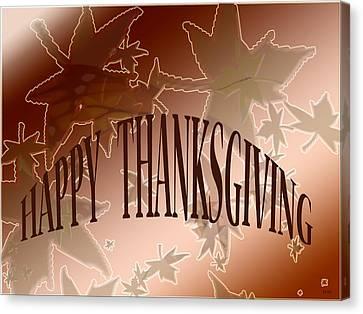 Thanksgiving Card Canvas Print