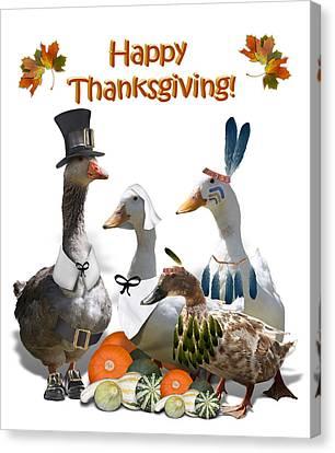 Thanksgiving Ducks Canvas Print