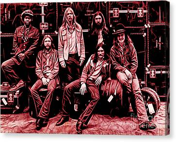 Roll Canvas Print - The Allman Brothers Collection by Marvin Blaine