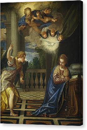 The Annunciation Canvas Print by Paolo Veronese