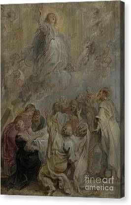 Peter Paul Rubens Canvas Print - The Assumption Of The Virgin by Peter Paul Rubens