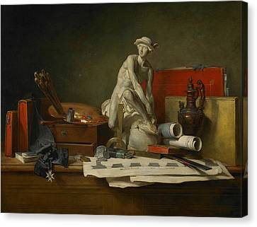 The Attributes Of The Arts And The Rewards Which Are Accorded Them Canvas Print by Jean-Baptiste-Simeon Chardin