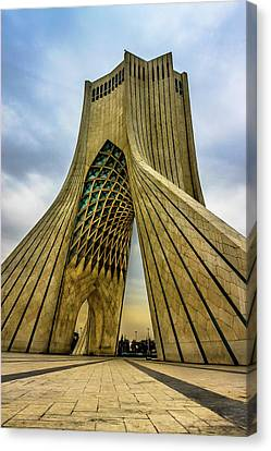 Meshed Canvas Print - The Azadi Tower by Mao Lopez