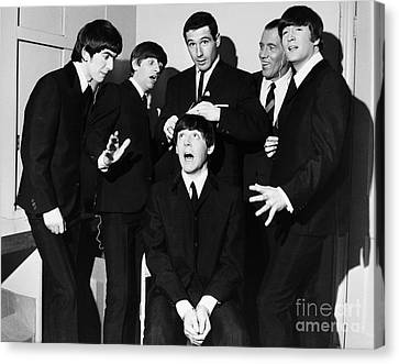 Dressing Room Canvas Print - The Beatles, 1964 by Granger