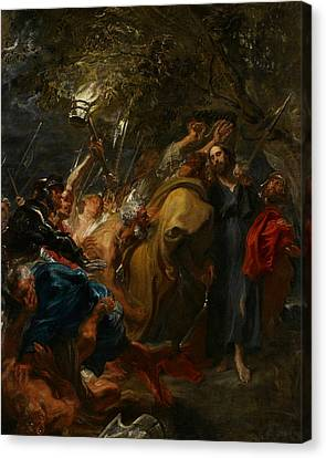 The Betrayal Of Christ Canvas Print