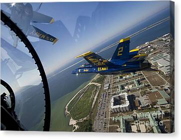 F-18 Canvas Print - the Blue Angels by Celestial Images