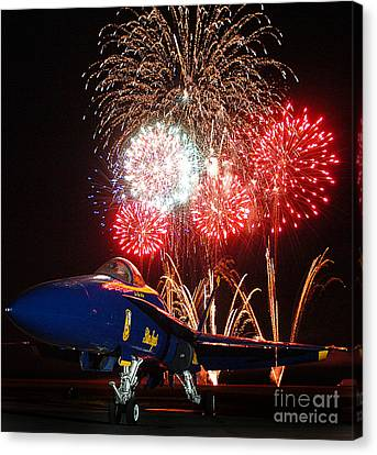 F-18 Canvas Print - the Blue Angels US Navy    by Celestial Images