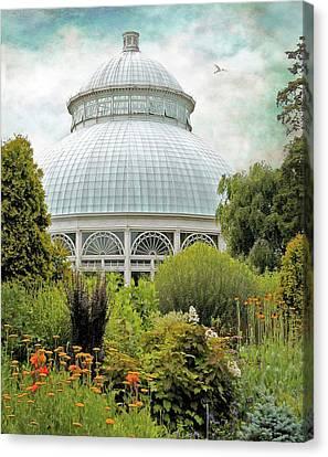 Conservatory Canvas Print - The Conservatory by Jessica Jenney