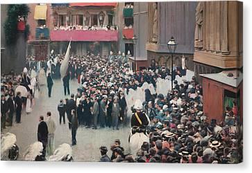 The Corpus Christi Procession Leaving The Church Of Santa Maria Del Mar Canvas Print