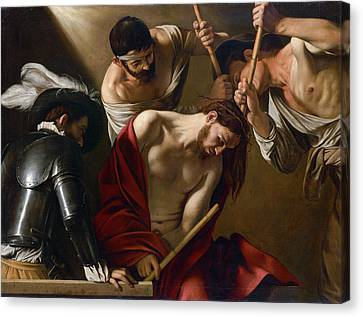 The Crowning With Thorns Canvas Print by Caravaggio