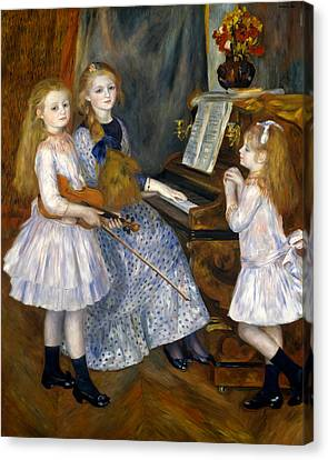 The Daughters Of Catulle Mendes Canvas Print by Pierre-Auguste Renoir